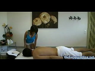 Hidden camera in asian massage parlor