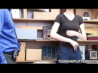 Skinny beauty Tali Dova caught stealing and hammered