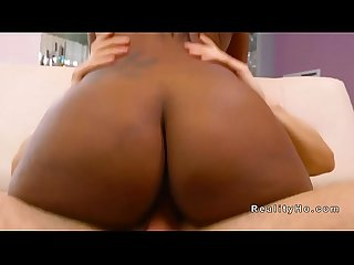 Huge booty ebony rides big cock