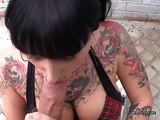 Tattooed girl shows him a good time2 wm