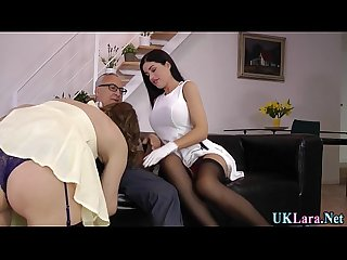 Jerking heeled brit cream