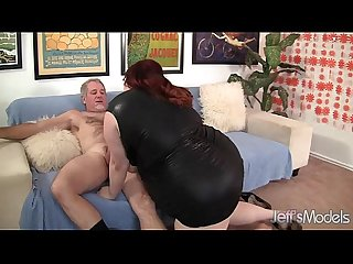 Fat Redhead Gobbles a Guy�s Pecker and Gets Fucked Hard