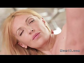 Blonde milf gets licked and banged till creampie