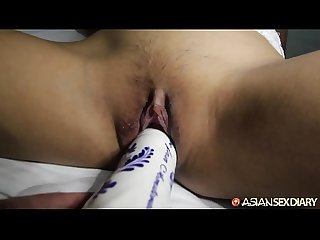 Asian Sex Diary - Super cute young babe babe gets big white cock