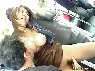 A young asian girl is on a train when two guys start from http alljapanese net