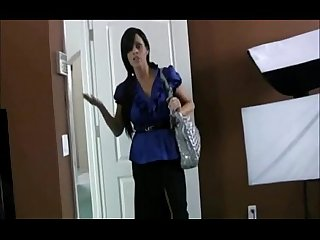 Horny step mom give a handjob