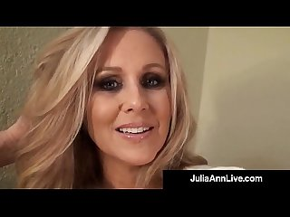 Sensual Milf Julia Ann Paints Her Toenails & Shows Sexy Feet
