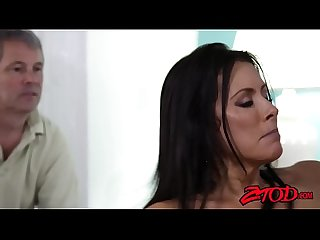 Horny milf raegan foxx cuckolds hubby with younger stud