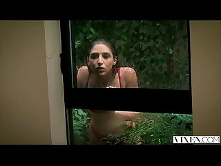 Vixen abella danger gets locked out and has passionate Sex with neighbor