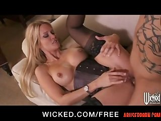 Jessica drake is blindfolded for some rough Anal porn pain abuserporn com