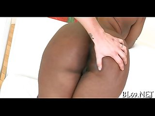Dark babe enjoys being screwed