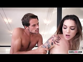 Young tattooed beauty Rocky Emerson gives her juicy slit for a deep penetration