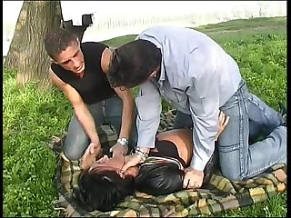A girl having car troubles is Kidnapped and fucked by two bad guys
