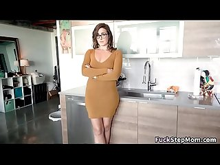 Big booty milf helps her step son out