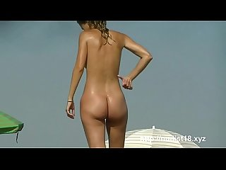 Nudist beach spread legs shaved pussy blonde brunette voyeur