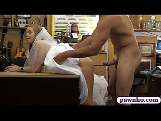 Hot blonde Girl sells her wedding dress and screwed