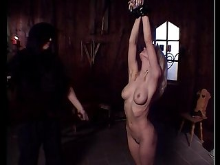 Blond slave undressed