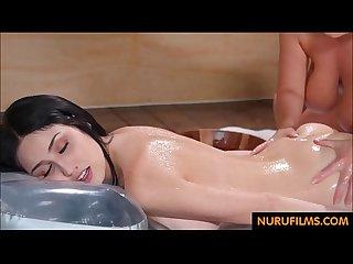 big tits lesbian massage