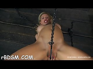 Caged up beauty is forced to give stud wild schlong sucking
