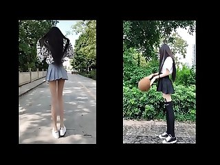 tiktok asian cute girl really long legs just 18yo