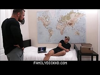 Stepson tricks daddy gets fucked
