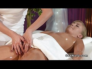 Blonde gets her pussy massaged