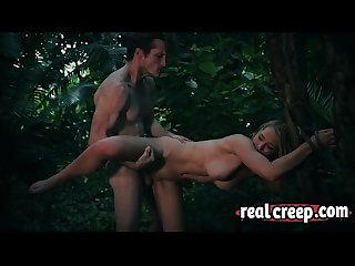 Raylin Ann sexy blonde milf captive and fucked hard in the forest
