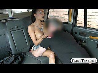 Taxi driver fucked hot amateur passenger