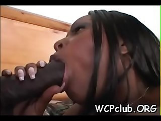 Black one-eyed monster in white anal