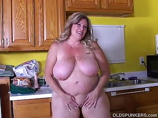 Beautiful big tits old spunker loves to fuck her soaking wet pussy