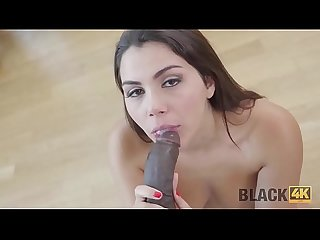 BLACK4K. Only a huge cock of black plumber can make chick happy