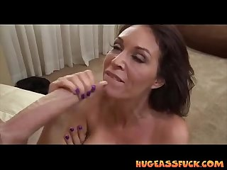 Big Ass Milf blows and fucks young stud
