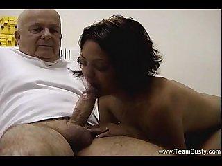 Massage then a blowjob from amateur