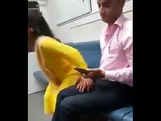 Indian couple having sex in Train