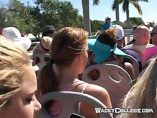 Double decker bus blowjob fun