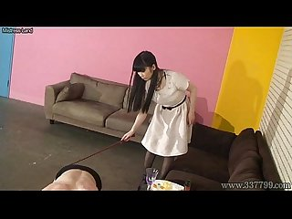 Japanese femdom foot worship and licking boots