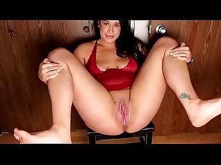 Bbw sitting on chair pissing