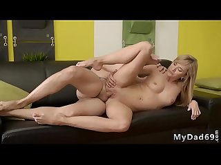 3d Old and Young first time would you pole dance on My Dick quest