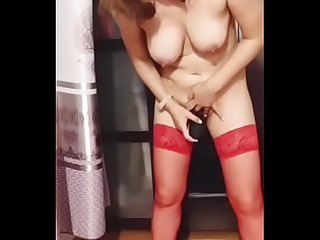 ri ye hung red stay ups real orgasm