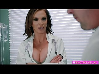 A hardcore threesome fucking session with nikki and birana at the clinic