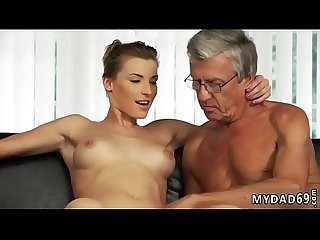 Daddy needs some pussy Sex with her boyboss s father after swimming
