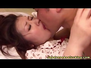 Japanese mature amateur enjoys anal