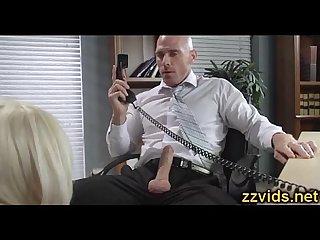 Hot blonde Nina elle office fuck
