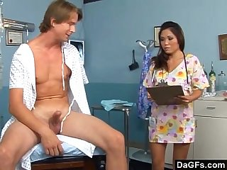 Asian nurse fucking a patient