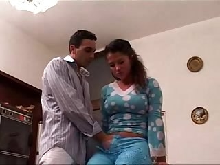 Latina sister taboo Family sex with brother in front of old Father