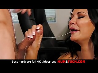 The hottest milf Jasmine Jae receive big fat cock in the kitchen