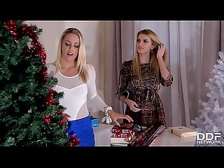 3 Glamour Lesbians Go Crazy for Orgasm on Christmas