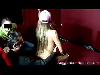Slutty real european blonde gives lap dance