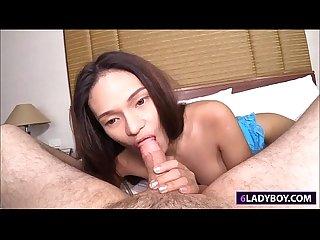 Ladyboy bai thong blowjob and pussy fucked