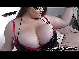 Huge tits georgina gee bouncing boobs in bra and out